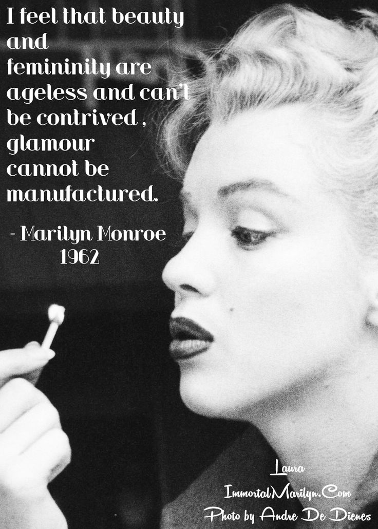 Marilyn Monroe Quote Beauty All About Marilyn Pinterest