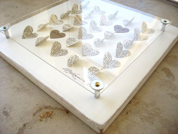 PERFECT! Perfect wedding gift for my book and craft paper theme! I think hearts in my wedding color with everyone's signature would be awesome.