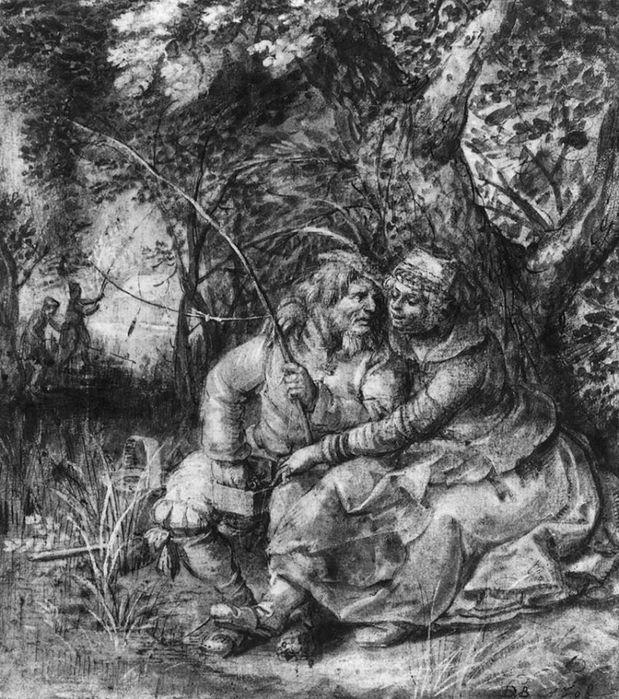 David Vinckenboons Старый рыбак с девочкой (1608, Institut Nйerlandais, Paris)