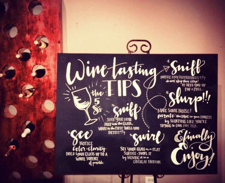 Chalkboard Wine Tasting Instructions by MASandMILLIE on Etsy