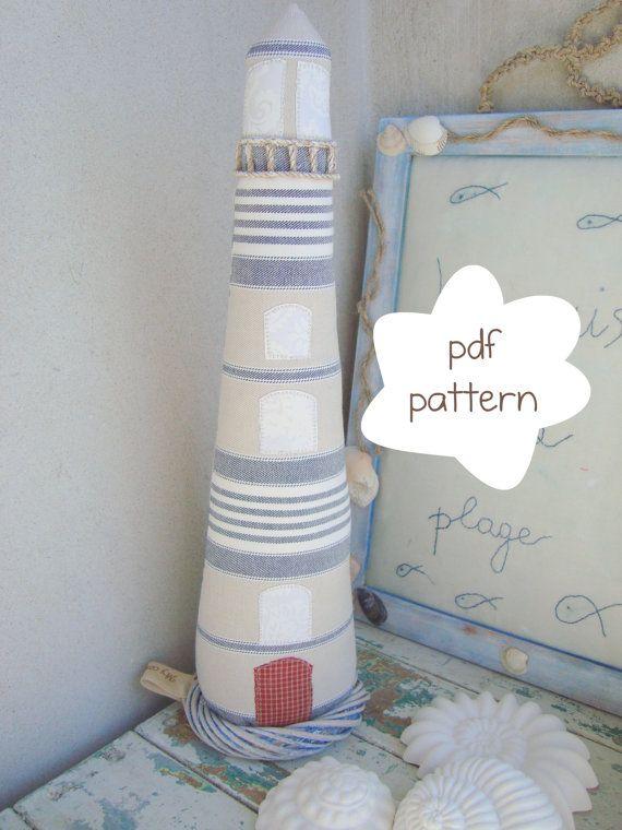 Lighthouse Pattern fabric lighthouse pattern by Mycountrynest, €6.50