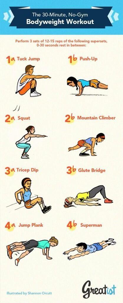 30 min no gym body weight workout