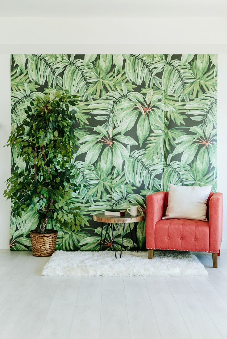 219 best anewall decor a new wall images on pinterest large banana leaf large wall mural watercolor mural martinique wallpaper x anewall etsy