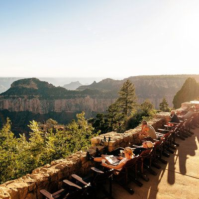Deck at the Grand Canyon Lodge overlooking North Rim
