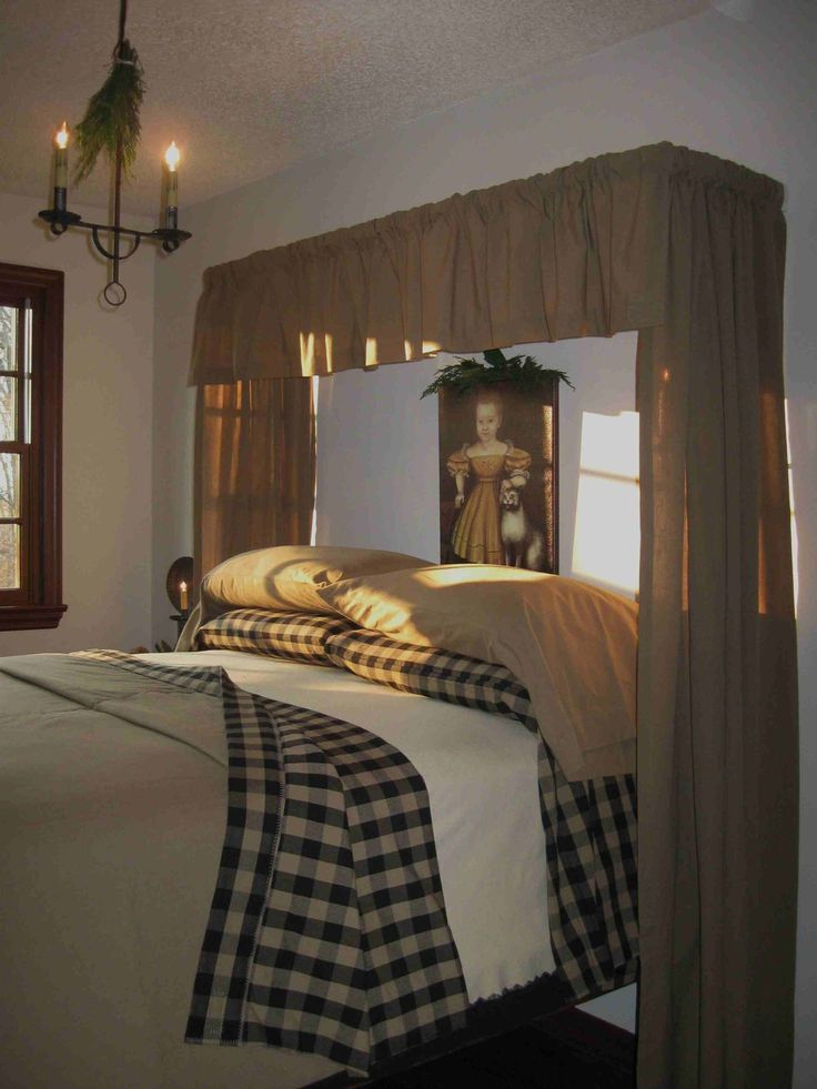 827 best images about primitive on pinterest pewter for Colonial bedroom ideas