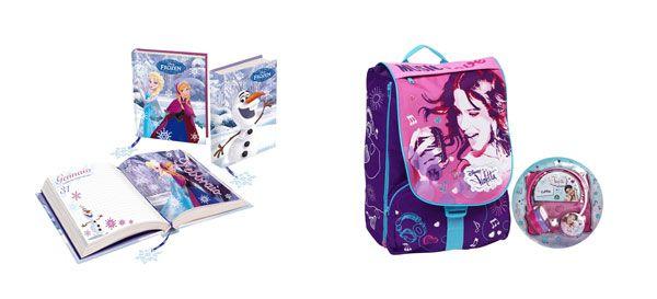 A scuola con Disney: zaino, astuccio e quaderni di Violetta, Frozen e Star Wars