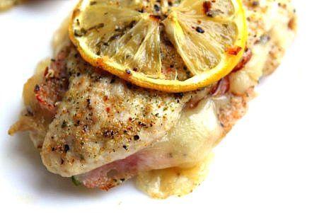 Healthy Lemon Chicken Cordon Bleu