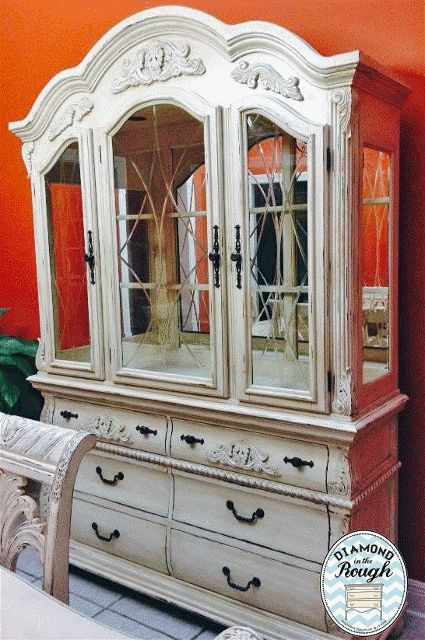 Antique White With Distressing