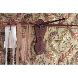 Victorian Trading Company Wooden Clothes Drying Rack 17856 Dark Wood by Victorian Trading Co.. $46.49. This empire clothes dryer from Victorian Trading Company is a wall hanging unit that extends multiple arms for drip-dry items. When this item is not in use, it folds neatly back against the wall. Overall dimensions of the dryer are 7 inches H x 18 inches L. It extends to 26 inches W with 12 inch dryer sticks. 17856