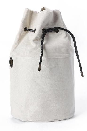 Canvas Drawstring Barrel Bag