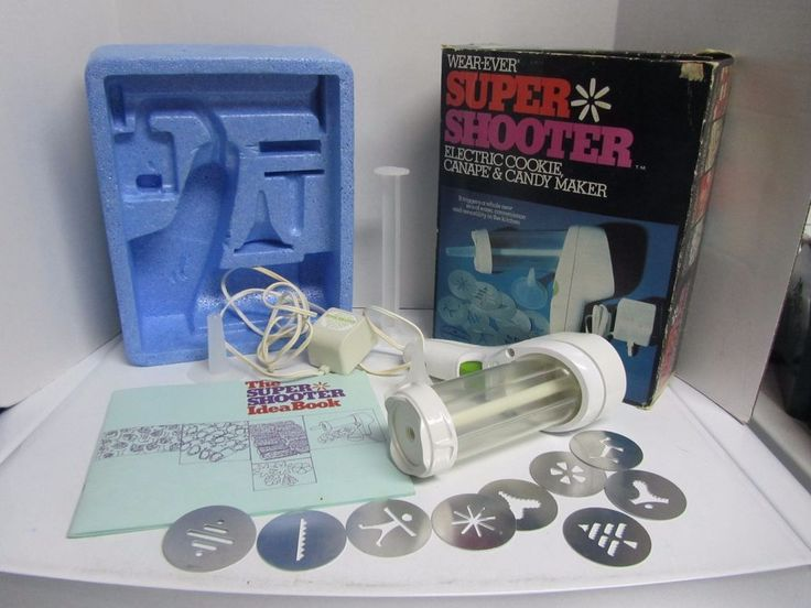 Vintage Wear Ever Super Shooter Electric Cookie Press Canape Candy Maker 70001  #WearEver