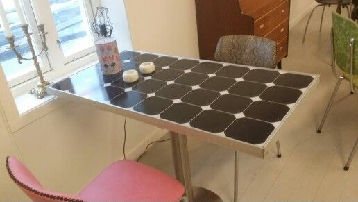 Bord av solcellepanel