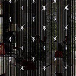 Peyan Low-elastic Yarn Home Beaded String Curtain Door Divider Crystal Tassel Screen
