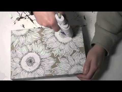 Cereal Box Canvas Part 2 - YouTube Love this!!