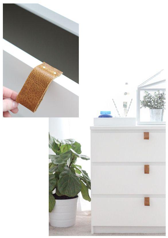 10 Rooms: trending: leather drawer pulls and door