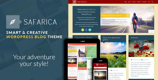 WP Theme Of the Day #46 – Safarica – Smart And Creative WordPress Blog Theme #designbeep.com