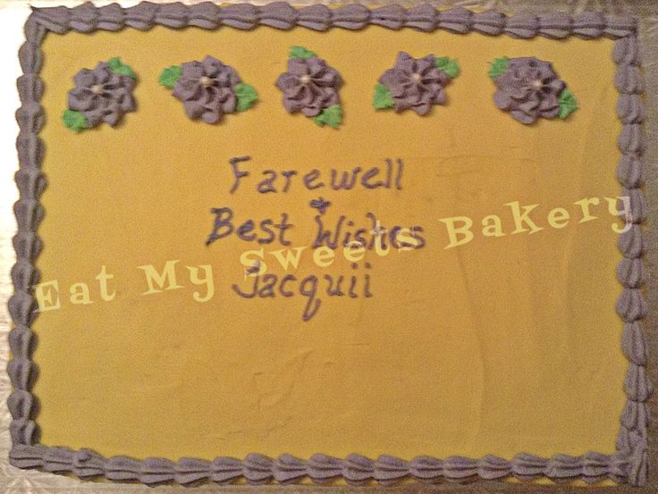 Farewell Cake lavender and yellow
