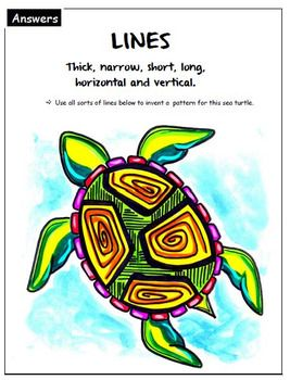 Free: Art exercise: Lines. Language of art. Grades 3-4