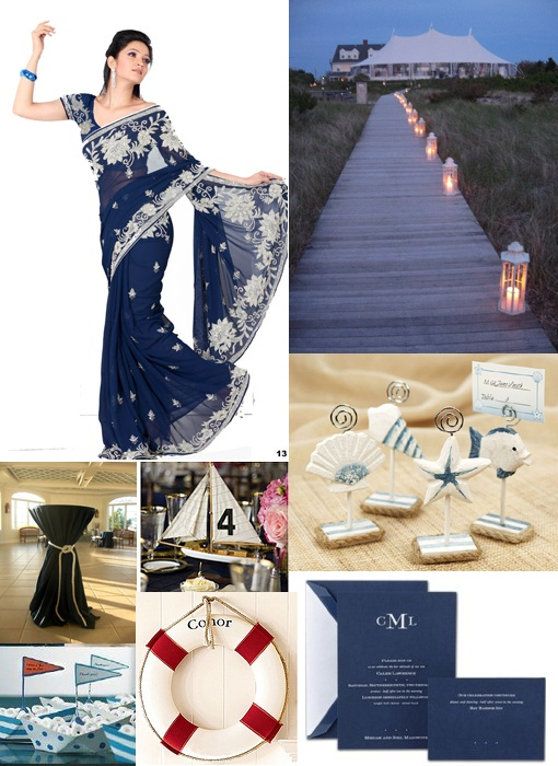 nautical wedding theme Not crazy about the dress , but the lot up boardwalk I like(: