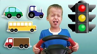 Puzzle Games For Kids | Compilation - Police car, ambulance, school bus - YouTube