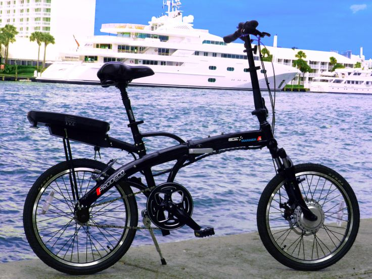 With its black pearl metallic gloss, blacked-out components and 20-inch rim frames, the Mariner S is one of the sharpest-looking and most compact e-bikes in its class. Weighing in at a very manageable 45 pounds, the Mariner S is lightweight, foldable, rust-resistant and easily stored, whether in a small aircraft , boat cabin, auto trunk or closet.