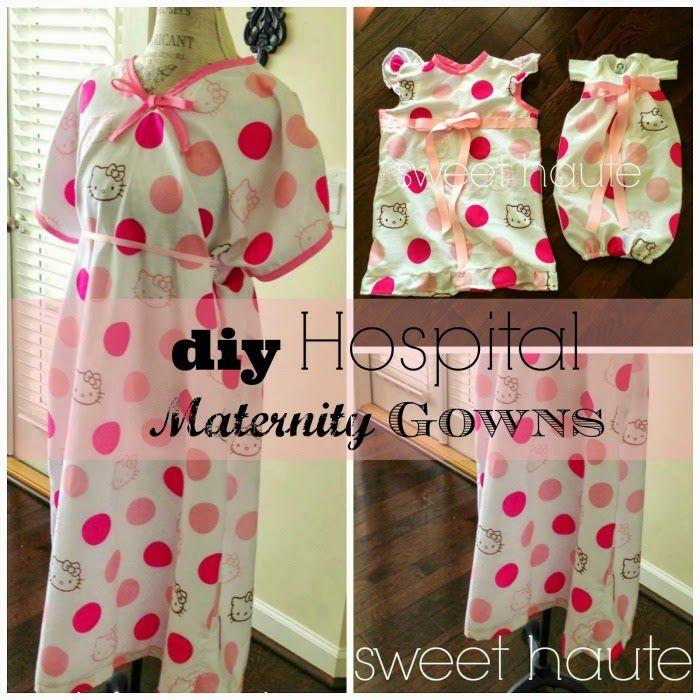 DIY Maternity Hospital Gown Pattern- FREE Tutorial | SWEET HAUTE