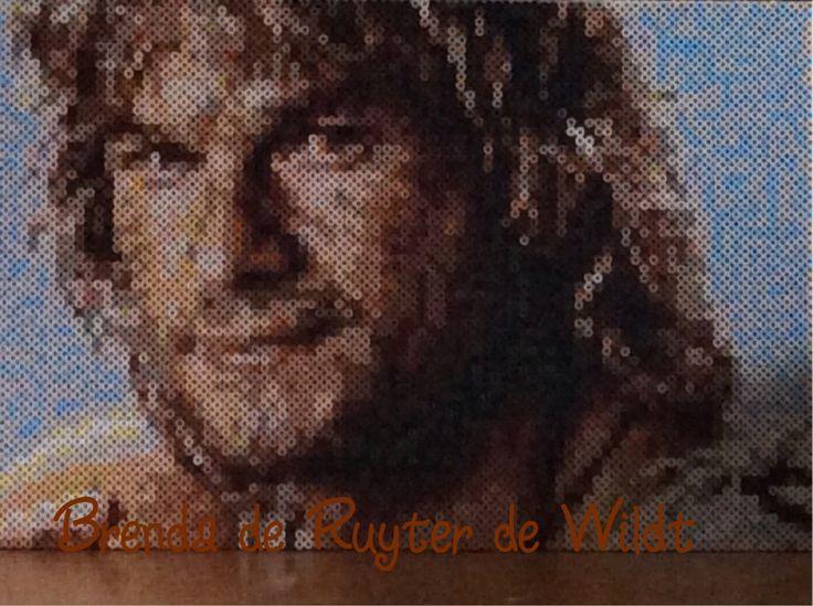 Patrick Swayze 30x45 cm 5400 strijkkralen