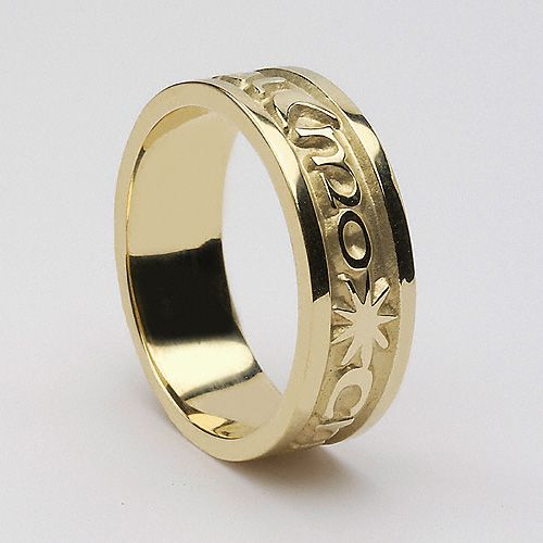 My Wedding Band Option #1 - The Gaelic words 'Gra geal mo chroi' mean 'love of my heart'