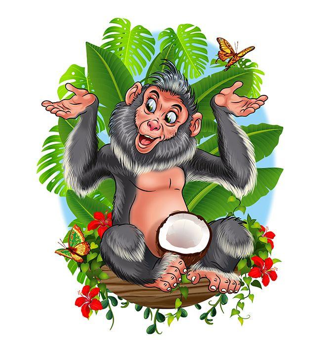 Открытка открытки, открытки про обезьянок