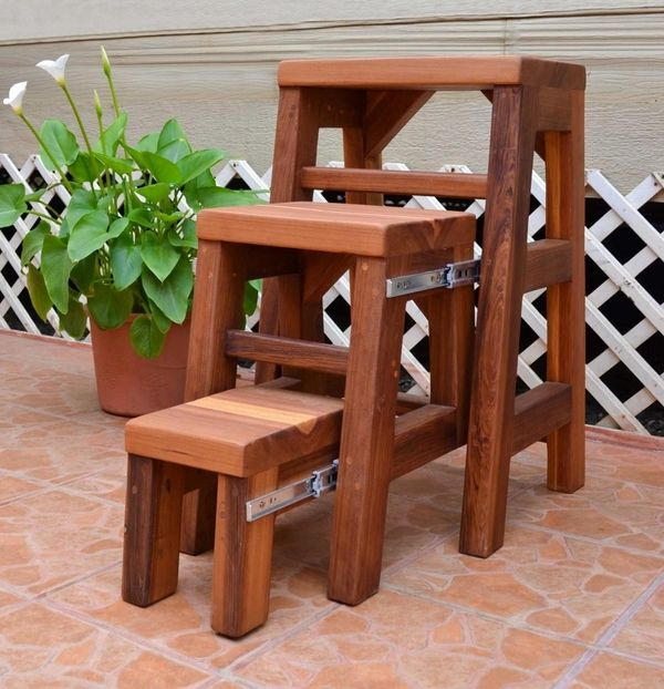 Folding Step Stools For Adults Hardwood Folding 3 Step