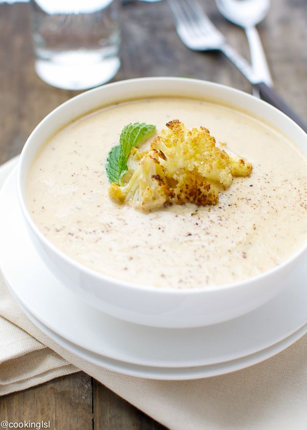 This roasted cauliflower and Boursin soup is creamy, tasty and so simple to make.