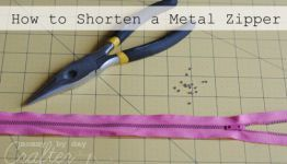 How to Shorten a Metal Zipper for Your Bag and The Hump Jumper