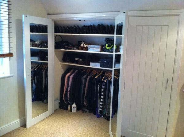 to do upstairs: attic wardrobe
