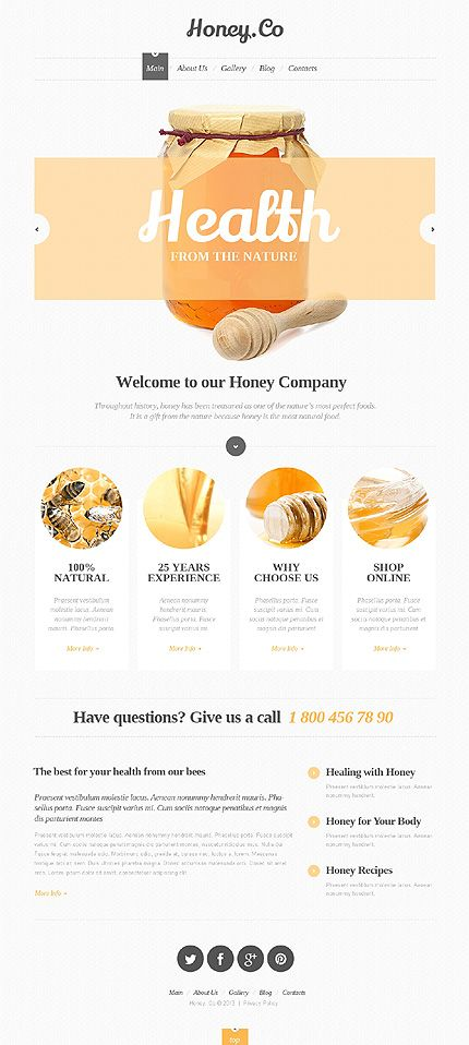 Honey Co. Web Design