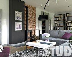 projekty salonów z kominkiem - zdjęcie od MIKOŁAJSKAstudio