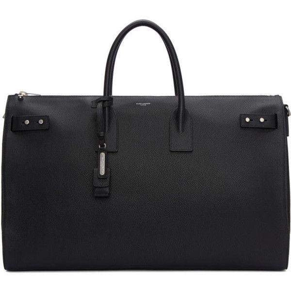 Saint Laurent Black Large Sac de Jour 48H Bag (€2.610) ❤ liked on Polyvore featuring men's fashion, men's bags, black, mens leather bag, mens leather duffle bag, mens leather duffel bag and men's duffel bags