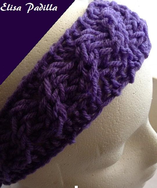Loom Knitting Pattern Headband : 23 best images about Loom Knitting Headbands on Pinterest Loom, Knitted hea...