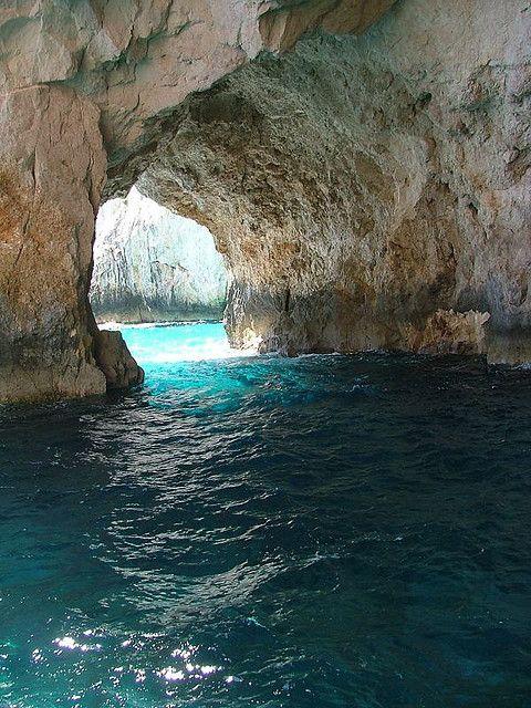 inside the blue caves - zante