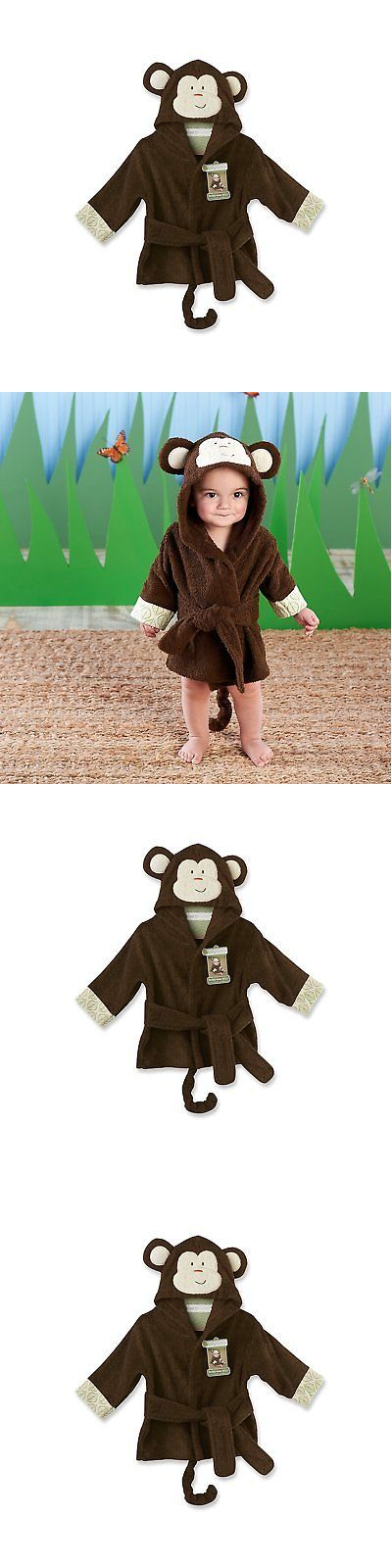 Towels and Washcloths 45453: Baby Aspen Born To Be Wild Monkey Hooded Spa Robe, Brown, 0-9 Months -> BUY IT NOW ONLY: $35.89 on eBay!