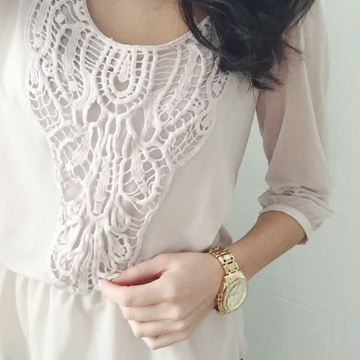 #pink #gold #watch #shirt #ootd #ootn #winter #pale #dynamite #shop #look #fashion #style #woman #girly