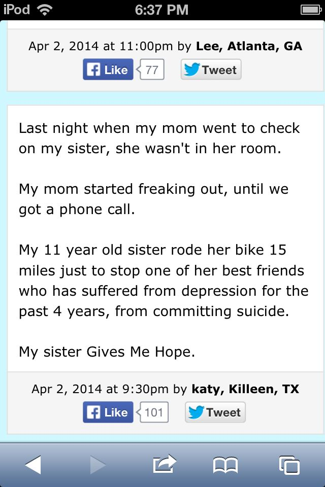 I don't like the just in there, makes it seem like suicide isn't a big thing.