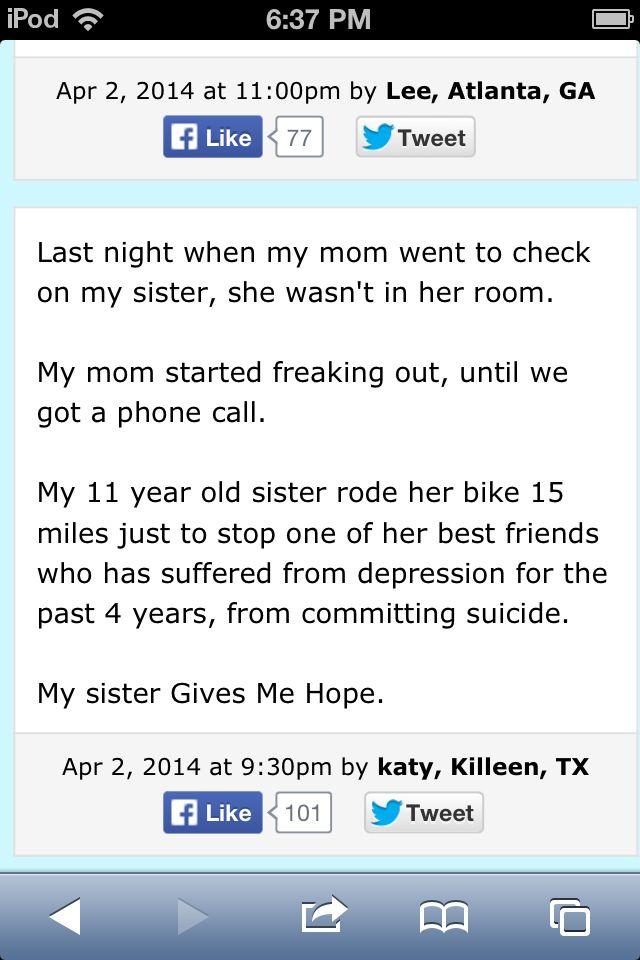 Gives me hope.