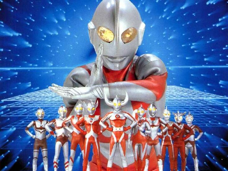 From left: Zoffy, Ultraman 80, Ultraman, Ultraman Taro ...