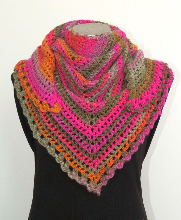 Triangle Scarf - Road Trip Scarf - Pattern by Zooty Owl SOLD