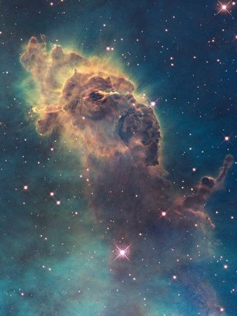 Star Birth in Carina Nebula from Hubble's Wfc3 Detector Photographic Print – Larry Moore