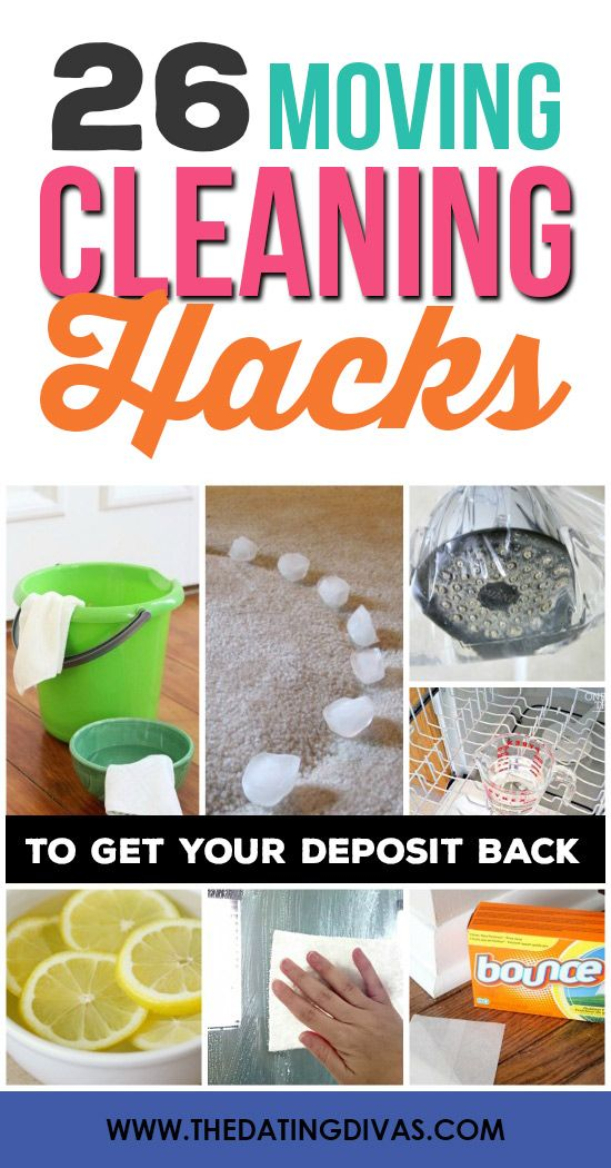 Moving Cleaning Hacks