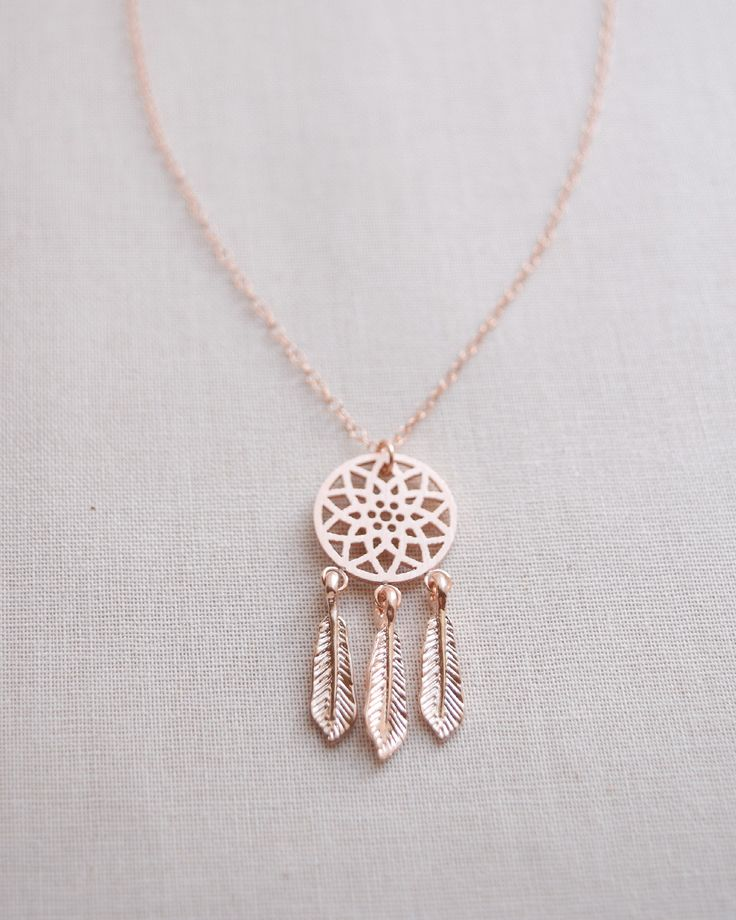 Dreamcatcher Necklace | Olive Yew for ear cuffs, custom jewelry and rose gold necklaces