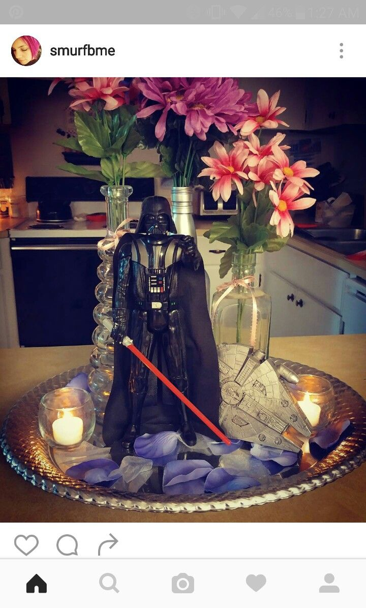 Star wars wedding centerpiece wedding table decor for Star wars dekoration