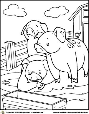 Lovely Farm Animal Coloring Book
