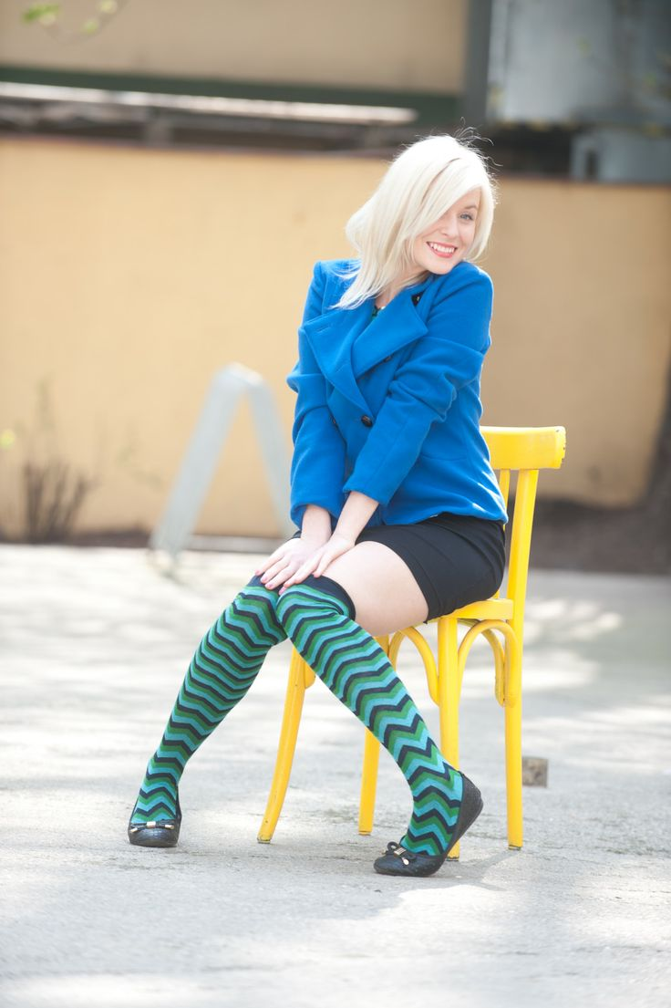 blue jacket SUGKRASISA by Katerina Jurisic, black dress MICHAELA SURA, knee socks SOCKS IN BOX   #czechfashion #prague #czech #pragueshopping #czechdesigners #czech designers #fashion #love #accesories #bags #chic #boho #style #instyle #homedecor #localfashion #local products #no fur shop #outfit #whowearus #howtowearit #hippie #elegant #gypsy #citylook #quality #folk